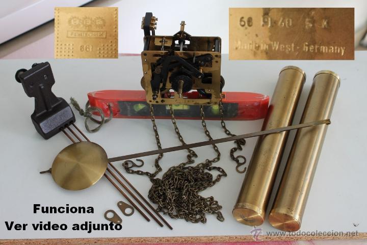 Cadena m quina reloj de pared con pesos pendu comprar - Maquinaria de reloj de pared con pendulo ...