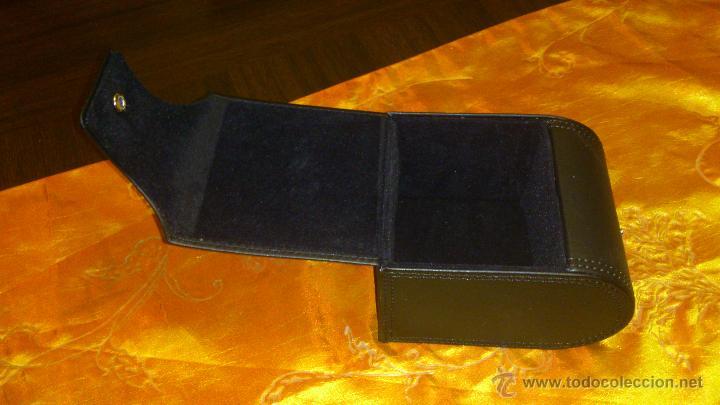 Recambios de relojes: Estuche de cuero negro SWISS MILITARY HANOWA. Original. - Foto 4 - 47174775