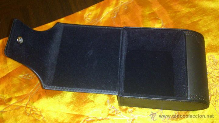 Recambios de relojes: Estuche de cuero negro SWISS MILITARY HANOWA. Original. - Foto 5 - 47174775