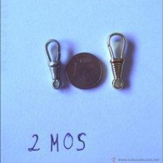 Recambios de relojes: 2 MOSQUETONES PARA CADENA RELOJ.. Lote 173522334