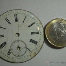 Recambios de relojes: ESFERA PORCELANA PARA RELOJ DE BOLSILLO - PARA RESTAURAR - MIRA OTRAS EN MI TIENDA. Lote 48370402