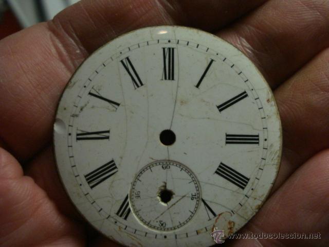 Recambios de relojes: ESFERA PORCELANA PARA RELOJ DE BOLSILLO - PARA RESTAURAR - MIRA OTRAS EN MI TIENDA - Foto 2 - 48370402