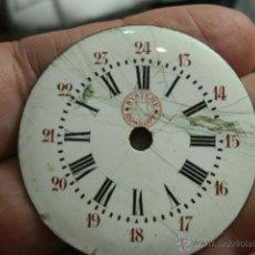 Recambios de relojes: ESFERA PORCELANA PARA RELOJ DE BOLSILLO - SYSTEM E ROSKOPF PARA RESTAURAR - MIRA OTRAS EN MI TIENDA. Lote 48370500
