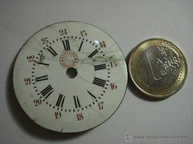 Recambios de relojes: ESFERA PORCELANA PARA RELOJ DE BOLSILLO - SYSTEM E ROSKOPF PARA RESTAURAR - MIRA OTRAS EN MI TIENDA - Foto 2 - 48370500