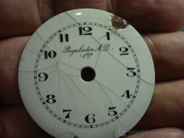ESFERA PORCELANA PARA RELOJ DE BOLSILLO - REGILADOR AD - PARA RESTAURAR - MIRA OTRAS EN MI TIENDA (Relojes - Recambios)