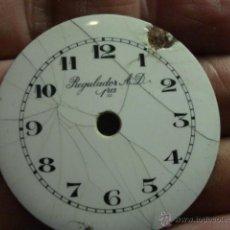 Recambios de relojes: ESFERA PORCELANA PARA RELOJ DE BOLSILLO - REGILADOR AD - PARA RESTAURAR - MIRA OTRAS EN MI TIENDA. Lote 48370608