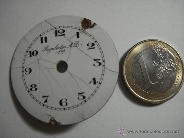 Recambios de relojes: ESFERA PORCELANA PARA RELOJ DE BOLSILLO - REGILADOR AD - PARA RESTAURAR - MIRA OTRAS EN MI TIENDA - Foto 3 - 48370608