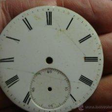Recambios de relojes: ESFERA PORCELANA PARA RELOJ DE BOLSILLO - - MIRA OTRAS EN MI TIENDA. Lote 48370645