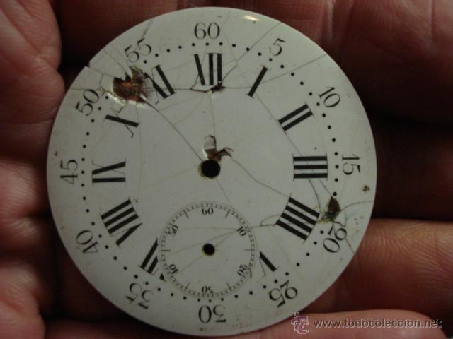 ESFERA PORCELANA PARA RELOJ DE BOLSILLO - PARA RESTAURAR - MIRA OTRAS EN MI TIENDA (Relojes - Recambios)