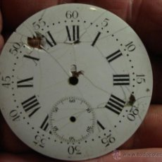 Recambios de relojes: ESFERA PORCELANA PARA RELOJ DE BOLSILLO - PARA RESTAURAR - MIRA OTRAS EN MI TIENDA. Lote 48370736