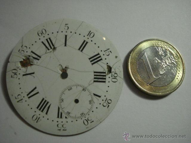 Recambios de relojes: ESFERA PORCELANA PARA RELOJ DE BOLSILLO - PARA RESTAURAR - MIRA OTRAS EN MI TIENDA - Foto 3 - 48370736