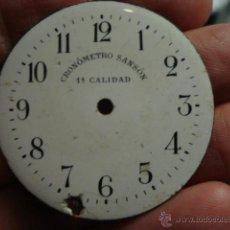 Recambios de relojes: ESFERA PORCELANA PARA RELOJ DE BOLSILLO - CRONOMETRO SANSON - MIRA OTRAS EN MI TIENDA. Lote 48370779