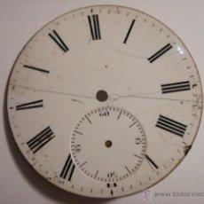 Recambios de relojes: ESFERA DE PORCELANA PARA RELOJ DE BOLSILLO - DEFECTOS - - AÑOS 1900-1920 - MIRA MAS EN MI TIENDA. Lote 48407759