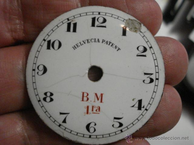 ESFERA DE PORCELANA PARA RELOJ DE BOLSILLO - DEFECTOS - - AÑOS 1900-1920 - MIRA MAS EN MI TIENDA (Relojes - Recambios)
