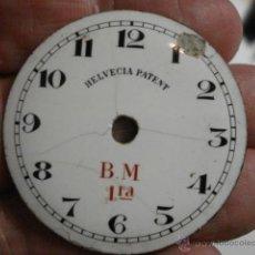Recambios de relojes: ESFERA DE PORCELANA PARA RELOJ DE BOLSILLO - DEFECTOS - - AÑOS 1900-1920 - MIRA MAS EN MI TIENDA. Lote 48407788