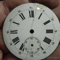 Recambios de relojes: ESFERA DE PORCELANA PARA RELOJ DE BOLSILLO - DEFECTOS - - AÑOS 1900-1920 - MIRA MAS EN MI TIENDA. Lote 48407818