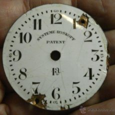 Recambios de relojes: ESFERA DE PORCELANA PARA RELOJ DE BOLSILLO - DEFECTOS - - AÑOS 1900-1920 - MIRA MAS EN MI TIENDA. Lote 48407852