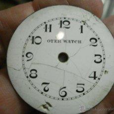 Recambios de relojes: ESFERA DE PORCELANA PARA RELOJ DE BOLSILLO - DEFECTOS - - AÑOS 1900-1920 - MIRA MAS EN MI TIENDA. Lote 48407874