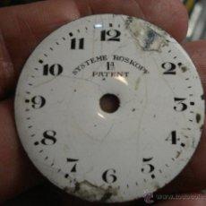 Recambios de relojes: ESFERA DE PORCELANA PARA RELOJ DE BOLSILLO - DEFECTOS - ROSKOPF - MIRA MAS EN MI TIENDA. Lote 48407897