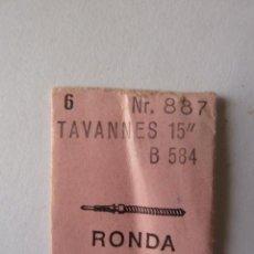 Recambios de relojes: PIEZAS PARA RELOJ CALIBRE : TAVANNES B 584, TIJAS 6 UNIDADES.. Lote 48846019