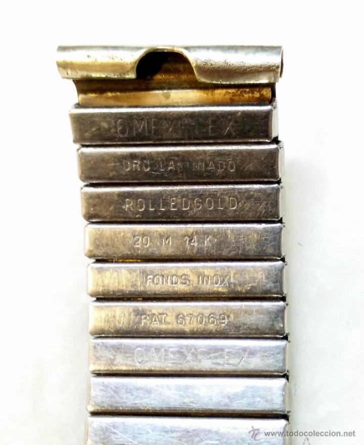 Recambios de relojes: CORREA O PULSERA PARA RELOJ OMEX FLEX. ORO LAMINADO 20M 14K ROLLEDGOLD. VER - Foto 3 - 49755254