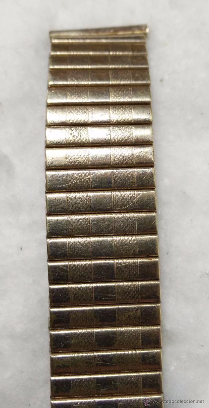 Recambios de relojes: CORREA O PULSERA PARA RELOJ OMEX FLEX. ORO LAMINADO 20M 14K ROLLEDGOLD. VER - Foto 4 - 49755254