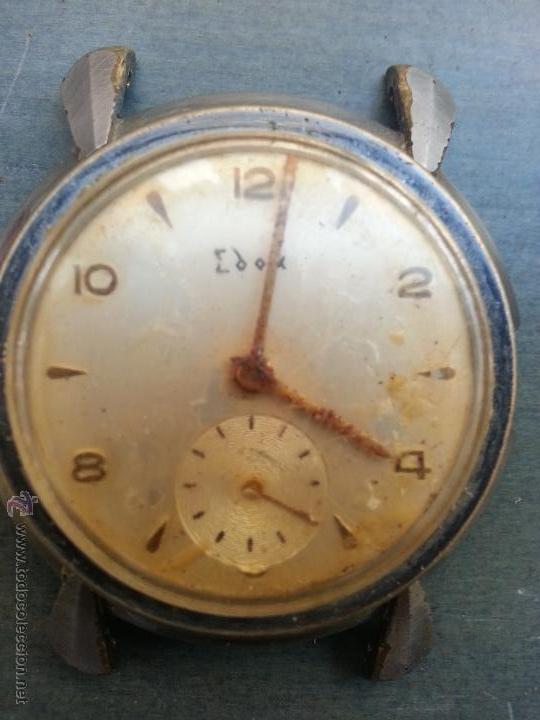ANTIGUO RELOJ EDOX 15 JEWELS ARREGLAR PARA PIEZAS O COLECCION, FALTA TAPA CORONA CORREAS . VER FOTOS (Relojes - Recambios)