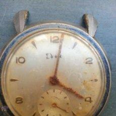 Recambios de relojes: ANTIGUO RELOJ EDOX 15 JEWELS ARREGLAR PARA PIEZAS O COLECCION, FALTA TAPA CORONA CORREAS . VER FOTOS. Lote 50762896