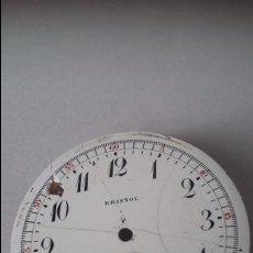 Recambios de relojes: ESFERA DE RELOJ BRISTOL CON SEGUNDERO DE 4.61CM . PARA REPARAR. Lote 81000772