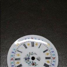 Recambios de relojes: ESFERA DE RELOJ BELLAMENTE DECORADA DE PORCELANA. Lote 112294624