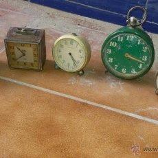 Recambios de relojes: RELOJES DESPERTADOR ANTIGUOS. Lote 53999165
