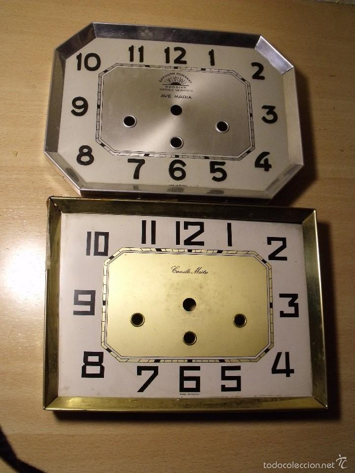 2 ANTIGUAS ESFERAS PARA RELOJ WETSMINSTER- LOTE 24- PARA PIEZAS (Relojes - Recambios)