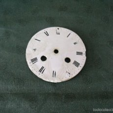 Recambios de relojes: 2 ESFERAS ANTIGUAS EN PORCELANA PARA MAQUINARIA PARIS- Nº 31- LOTE 28. Lote 57628203