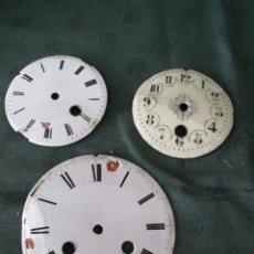 Recambios de relojes: 3 ANTIGUAS ESFERAS PARA RESTAURAR- MAQUINARIA PARIS- Nº 32 - LOTE 28. Lote 57628288
