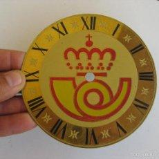 Recambios de relojes: RARO FRONTAL LATON RELOJ CAJA POSTAL O CORREOS LOGO IDEAL CREACION DECORACION COLECCION. Lote 92170089