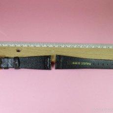 Recambios de relojes: CORREA PIEL LAGARTO-NEGRA-20 MM-NUEVA-VER FOTOS.. Lote 57868661
