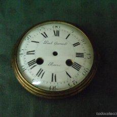 Recambios de relojes: ESFERA DE PORCELANA PAUL GARNIER PARA MAQUINARIA PARIS-Nº 21-LOTE 30-UNICA- CALIDAD EXCEPCIONAL. Lote 57892812