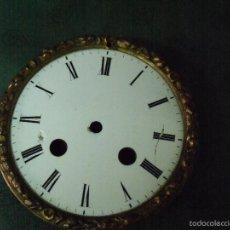 Recambios de relojes: ESFERA DE PORCELANA PARA MAQUINARIA PARIS-Nº 27-LOTE 30-CON SOPORTE. Lote 57893856