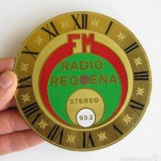 Recambios de relojes: FRONTAL PARA RELOJ VINTAGE COLECCION RADIO REQUENA FM 93,2. Lote 58021202