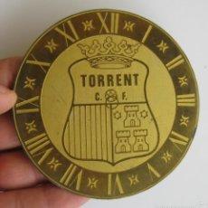 Recambios de relojes: FRONTAL RELOJ LATON CLUB DEPORTIVO TORRENT. Lote 58021936