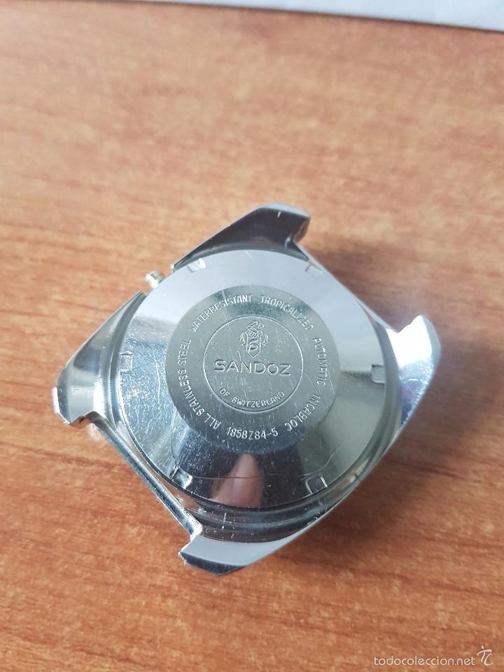 Recambios de relojes: Caja para reloj de caballero sin máquina en acero con tapa trasera, cristal, segunda mano - Foto 2 - 58249357