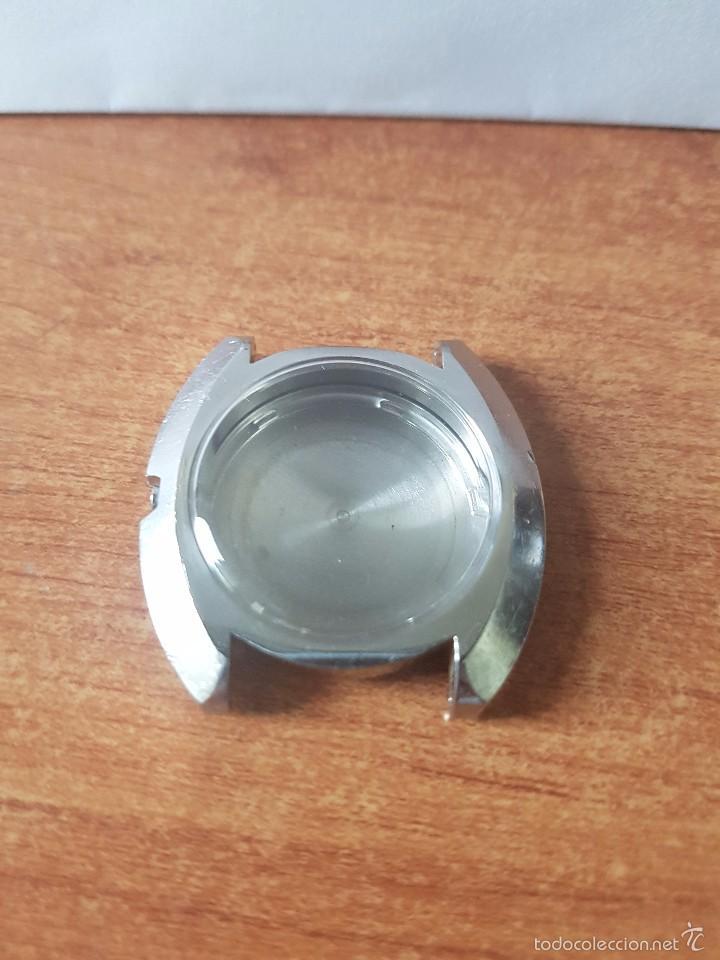 Recambios de relojes: Caja para reloj de caballero Seiko 7006 sin máquina en acero con tapa trasera, cristal, segunda mano - Foto 4 - 58249422