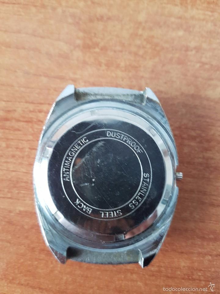 Recambios de relojes: Caja para reloj de caballero sin máquina en acero con tapa trasera, cristal biselado segunda mano - Foto 5 - 58259887