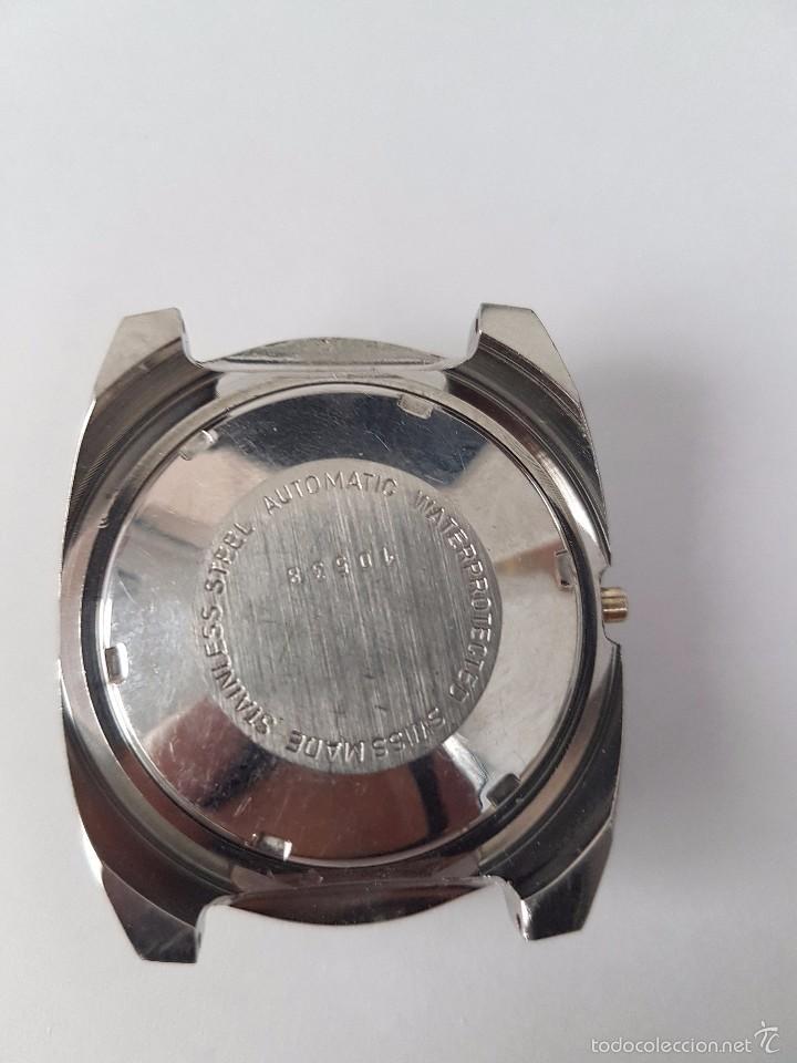 Recambios de relojes: Caja para reloj de caballero sin máquina en acero con tapa trasera, cristal nuevo, segunda mano - Foto 2 - 58267036