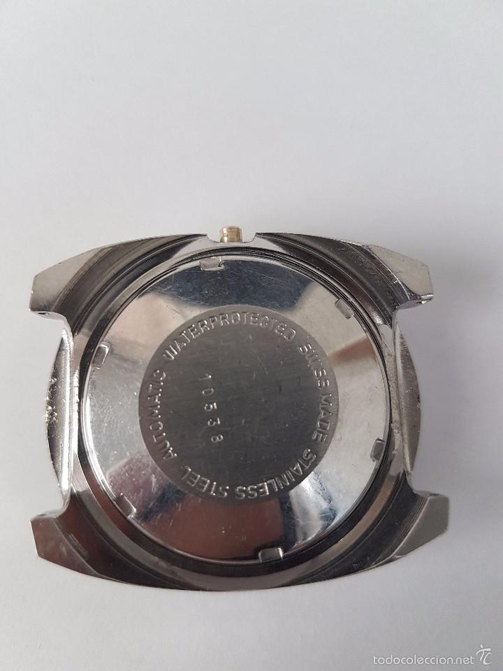 Recambios de relojes: Caja para reloj de caballero sin máquina en acero con tapa trasera, cristal nuevo, segunda mano - Foto 3 - 58267036