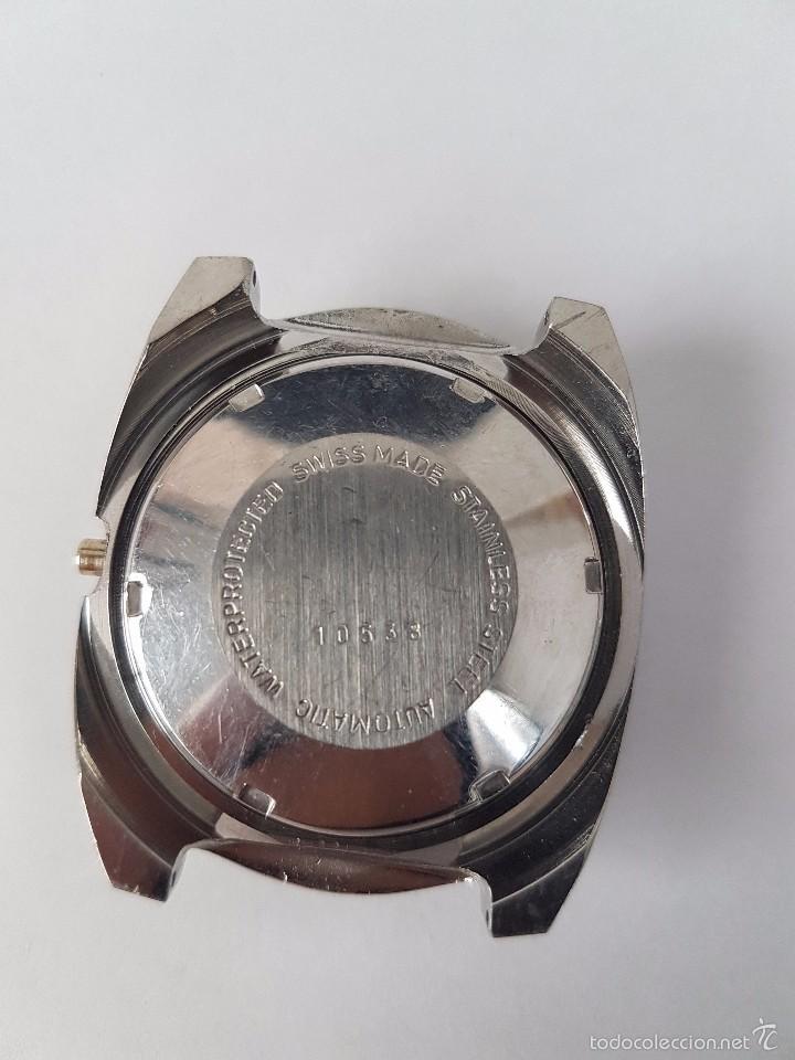 Recambios de relojes: Caja para reloj de caballero sin máquina en acero con tapa trasera, cristal nuevo, segunda mano - Foto 5 - 58267036