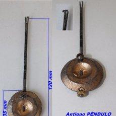 Recambios de relojes: ANTIGUO PÉNDULO PARA MÁQUINA PARIS, REF 12. Lote 59825052