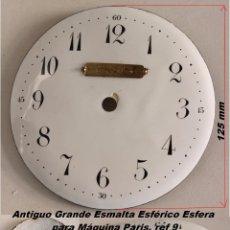 Recambios de relojes: ANTIGUO GRANDE Ø125 MM ESMALTA ESFÉRICO ESFERA PARA MÁQUINA PARIS, REF 9. Lote 59884763