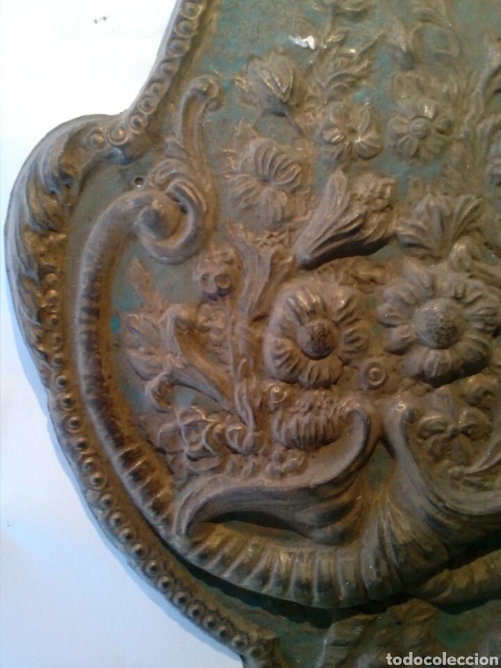 Recambios de relojes: Parte frontal de péndulo reloj Morez siglo XIX - Foto 2 - 66192017