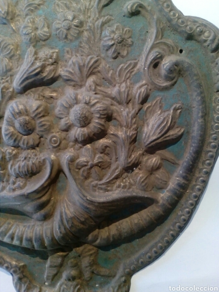 Recambios de relojes: Parte frontal de péndulo reloj Morez siglo XIX - Foto 3 - 66192017